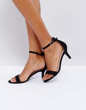 Glamorous Barely There Kitten Heeled Sandals
