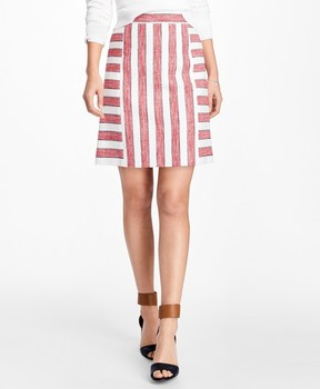 Brooks Brothers Striped Boucle Skirt