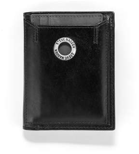 Steve Madden Grommet Glazed Leather L-fold Wallet.
