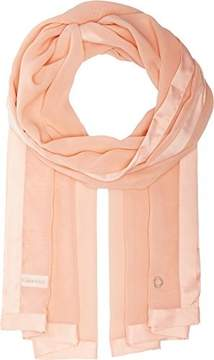 Calvin Klein Women's Satin Border Chiffon Scarf Nectar One Size