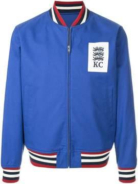 Kent & Curwen contrast bomber jacket