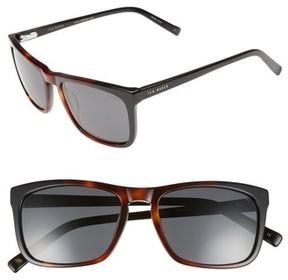 Ted Baker Men's 55Mm Polarized Sunglasses - Tortoise