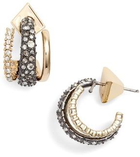 Alexis Bittar Women's Floating Orbit Hoop Earrings