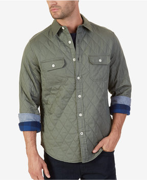 Nautica Men's Quilted Twill Shirt