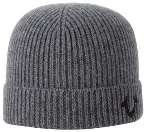 True Religion Brand Jeans Rib Knit Cap - Metallic