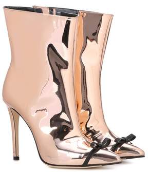 Marco De Vincenzo Mirrored ankle boots