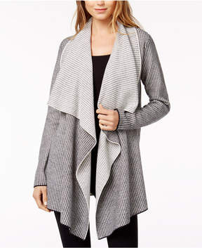 Bar III Marled Waterfall-Lapel Cardigan, Created for Macy's