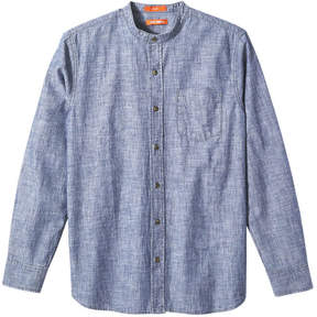 Joe Fresh Men's Chambray Shirt, Blue (Size L)