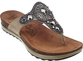 Dansko Leather Embellished Thong Sandals -Pamela