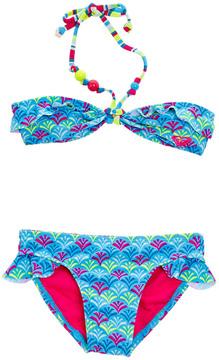 Roxy Girls' Island Tiles 2 Pc Ruffle Bandeau Set