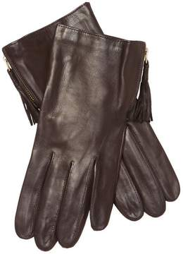 Portolano Women's Tassle Leather Gloves