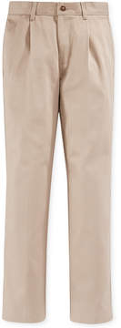 Nautica Boys' Slim Pleated Uniform Pants
