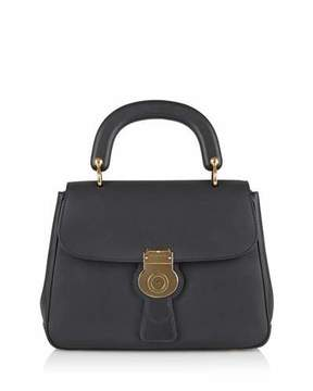 Burberry Trench Large Leather Top-Handle Satchel Bag, Black - BLACK - STYLE