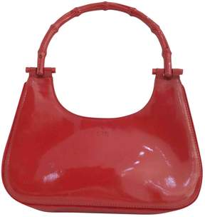 Gucci Bamboo patent leather mini bag - RED - STYLE