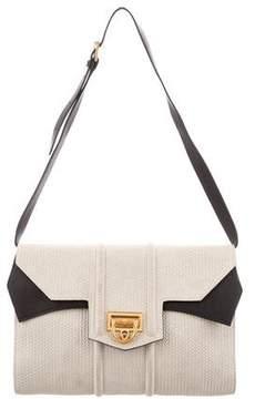 Reece Hudson Leather-Trimmed Shoulder Bag