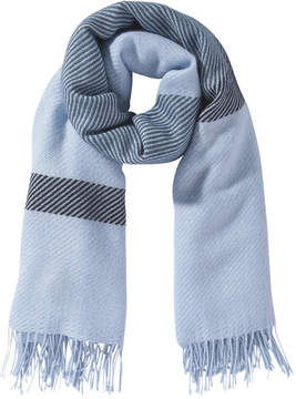 Joe Fresh Women's Pattern Fringe Scarf, Light Blue (Size O/S)