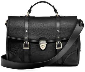 Aspinal of London Large City Mollie Satchel In Black Pebble