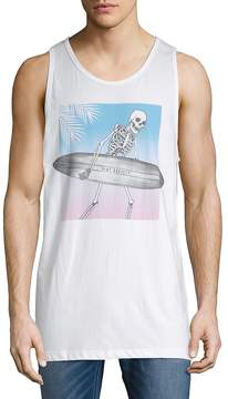 Riot Society Men's Skeleton Surf Cotton Tank Top
