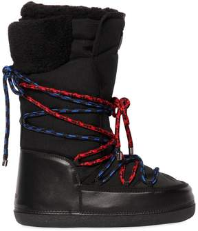 DSQUARED2 Nylon Ski Snow Boots W/ Two Tone Laces