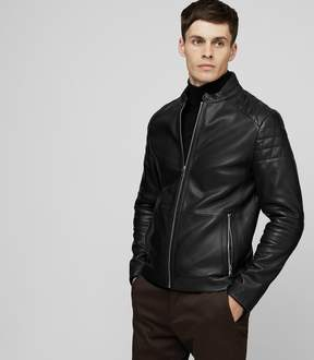 Reiss Hatchet Quilted Leather Jacket