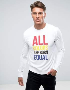 Benetton Equal Slogan Sweatshirt