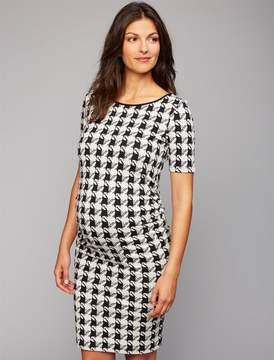 Isabella Oliver Houndstooth Maternity Dress