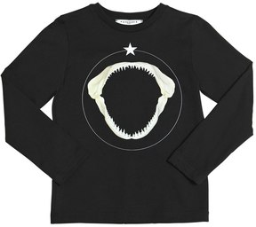 Givenchy Shark Printed Cotton Jersey T-Shirt