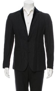 Class Roberto Cavalli Velvet-Trimmed Two-Button Sport Coat w/ Tags