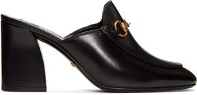 Gucci Black Heeled Slip-On Loafers