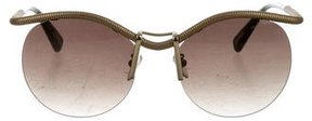 Lanvin Metallic Rimless Sunglasses