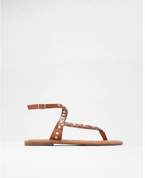 Express studded pearl bead thong sandals