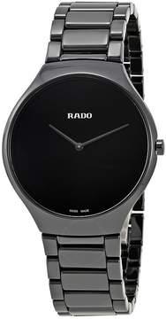 Rado True Thinline Black Ceramic Men's Watch