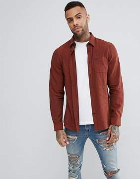 Jack Wills Somerby Regular Fit Textured Flannel Shirt In Rust