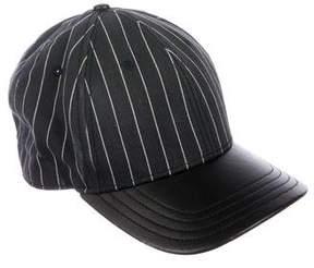 Rag & Bone Leather-Trimmed Striped Hat