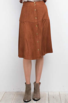 Easel Faux Suede Skirt