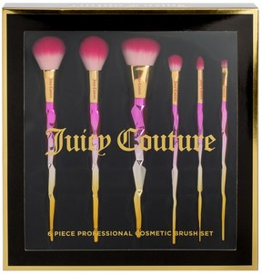 Juicy Couture 6pc Ombre Handle Cosmetic Brush Set