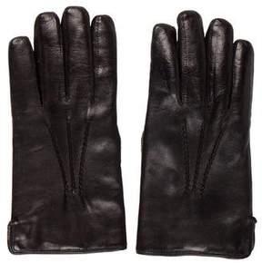 Barneys New York Barney's New York Lined Leather Gloves