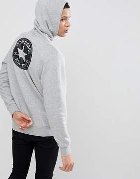 Converse Pullover Hoodie With Chuck Patch In Gray 10006680-A01