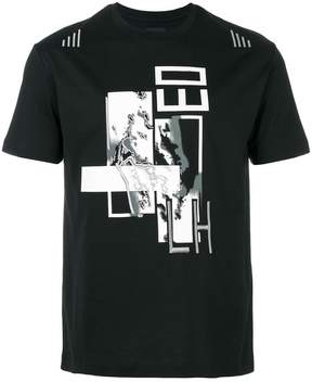 Les Hommes patch printed T-shirt
