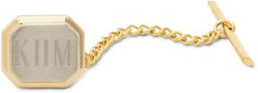 Accessories Engravable 2-Tone 22K Tie Tack