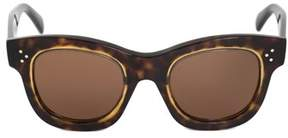 Celine Square Sunglasses 41397s | Havana Acetate Frames | Brown Lenses.
