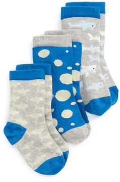 Tucker + Tate Boy's Critter Assorted 3-Pack Crew Socks