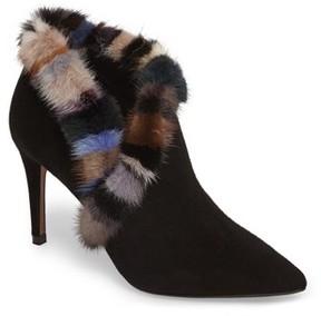 Donald J Pliner Women's Renata Genuine Mink Fur Trim Bootie