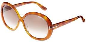Tom Ford Womens Gisella Oversized Gradiant Round Sunglasses
