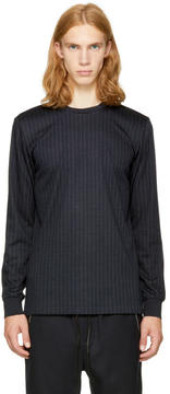 3.1 Phillip Lim Navy Long Sleeve Pinstripe Perfect T-Shirt