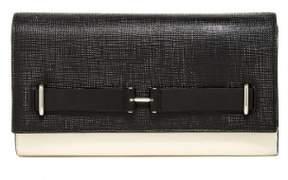 Vince Camuto Womens Jemma Genuine Leather Decorative Belt Clutch Handbag