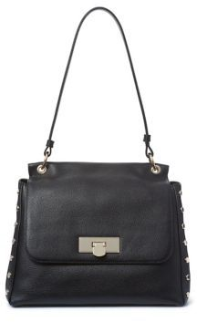 Donna Karan Flap Leather Shoulder Bag