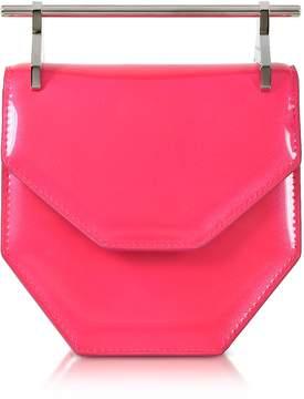 M2Malletier Mini Amor Fati Neon Pink Leather Shoulder Bag