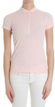 Sun 68 Women's Pink Cotton Polo Shirt.