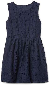 Gap Floral lacey fit and flare dress
